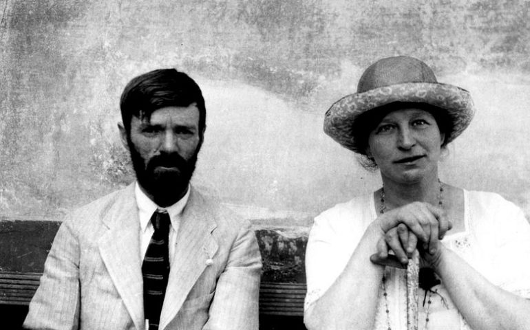 David Herbert Lawrence e sua moglie Frieda.